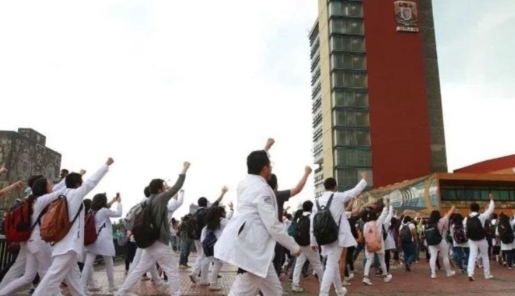 Protesta de medicina.