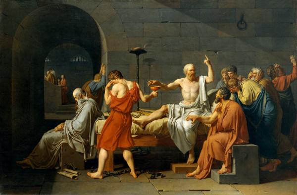 'La muerte de Sócrates'.
