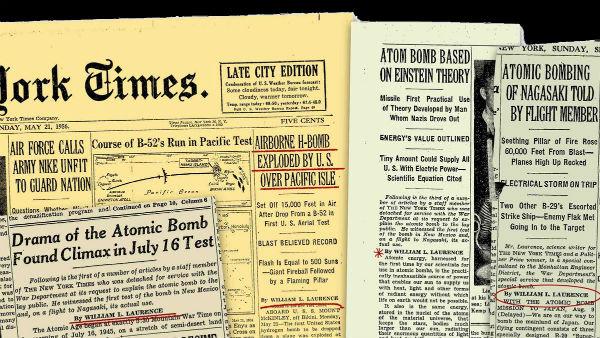 Titulares bomba atómica.