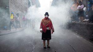 foto más emblemática de las protestas indígenas