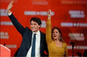 ustin Trudeau y su esposa
