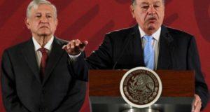 Presiente López Obrador y Carlos Slim
