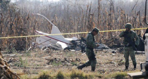 caída del helicóptero donde perdieron la vida la gobernadora de Puebla, Martha Erika Alonso, y su esposo, Rafael Moreno Valle.