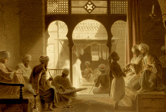 Casa de café en el Cairo.