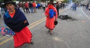 Protestas de indígenas en Ecuador