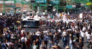 Manifestantes 2 de octubre en la Ciudad de México