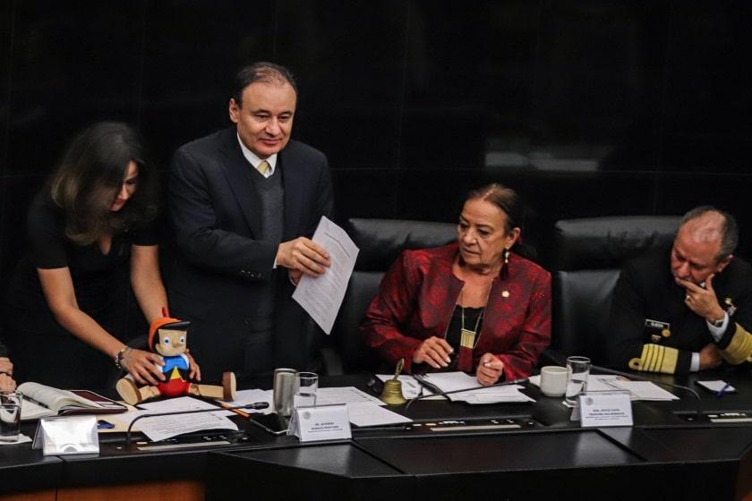 Alfonso Durazo en el Senado