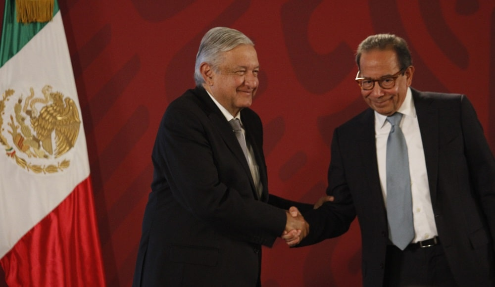 Andrés Manuel López Obrador y Carlos Salazar Lomelín