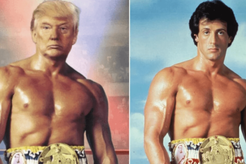 Foto de Donald Trump como Rocky Balboa
