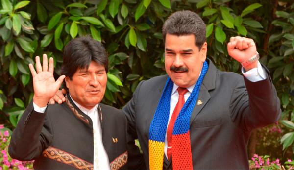 Evo y Maduro.