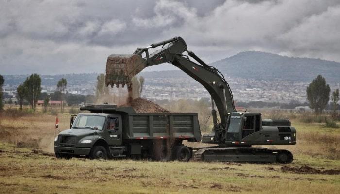 Aeropuerto en Santa Lucía en construcción
