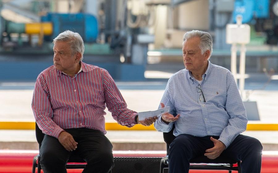 Andrés Manuel López Obrador y Manuel Bartlett Díaz