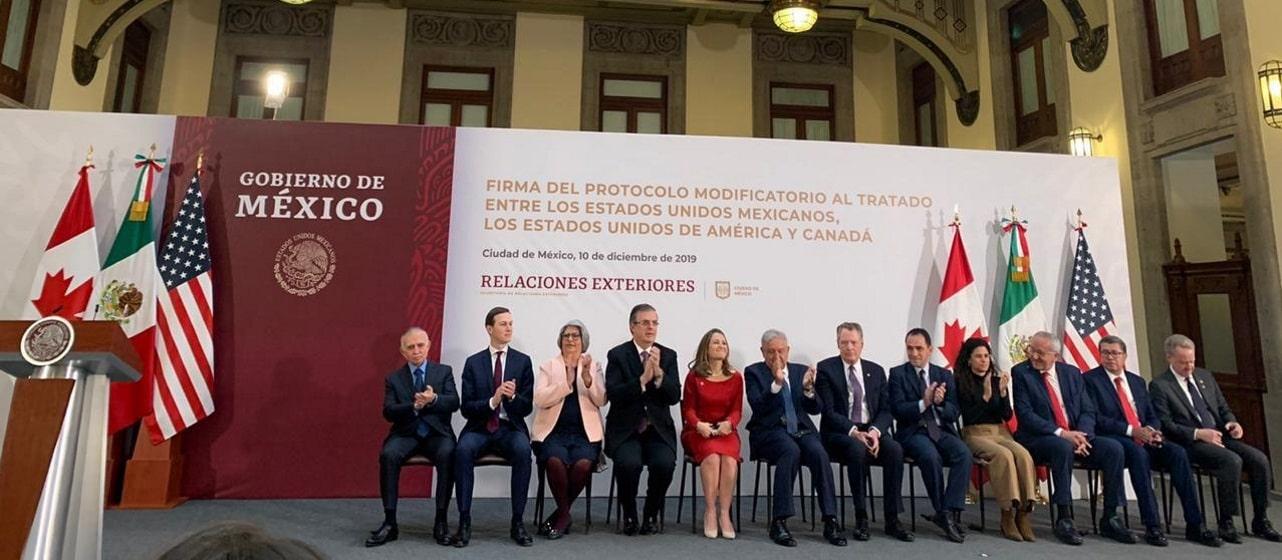 México, Estados Unidos y Canadá firman T-MEC