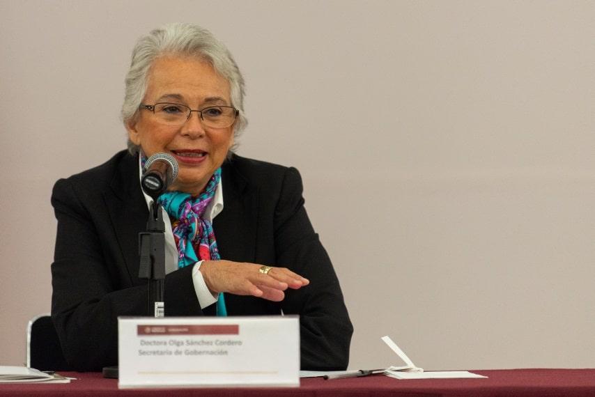 Olga Sánchez Cordero Secretaria de Gobernación