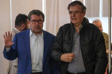 Ricardo Monreal y Marcelo Ebrard