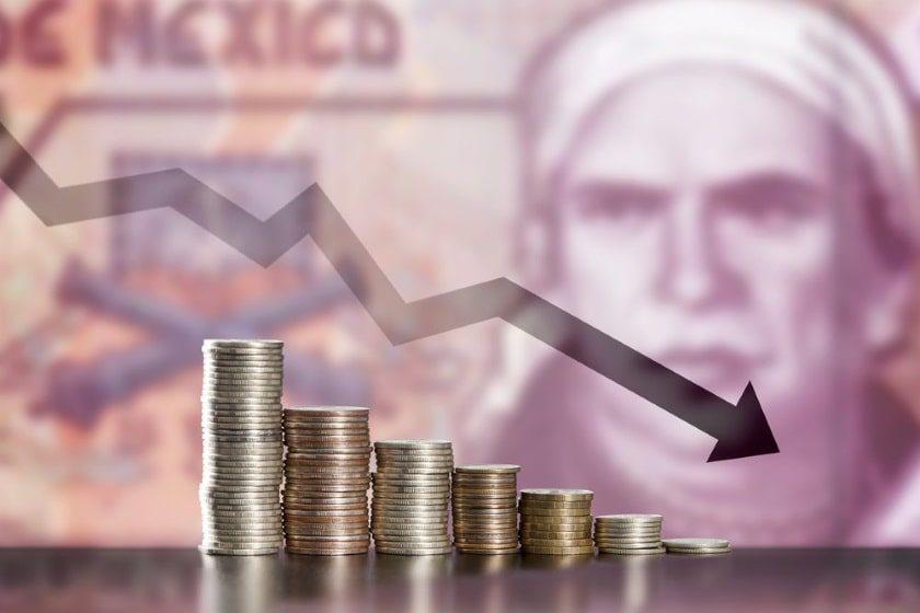 Devaluación del peso mexicano en los últimos diez años