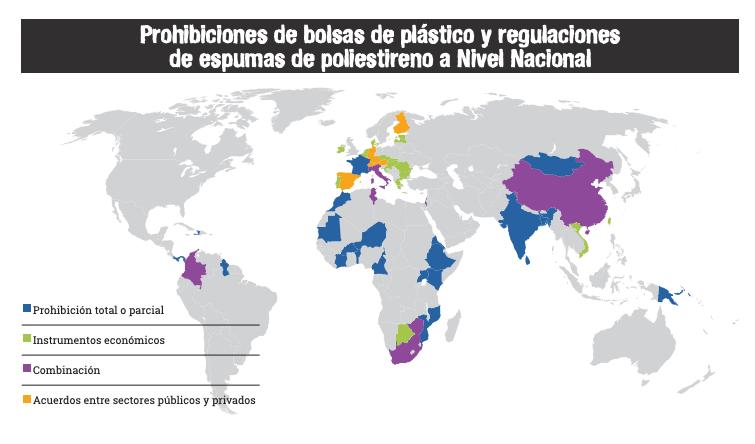 prohibiciones de plastico en el mundo