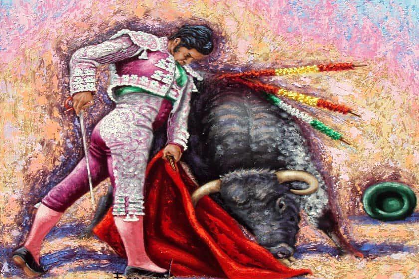 oleo de corrida taurina