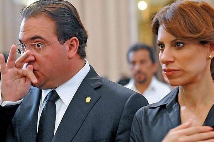 Javier Duarte y su esposa Karime Macías