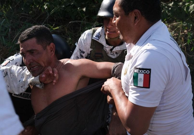 Guardia Nacional detiene caravana migrante