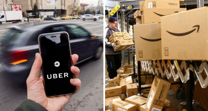 amazon y uber