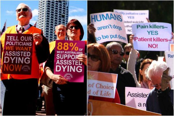 protesta de muerte asistida