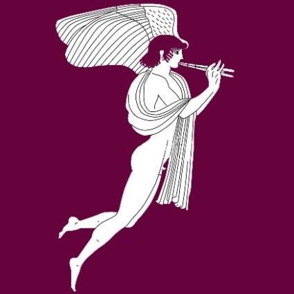 Eros con flauta