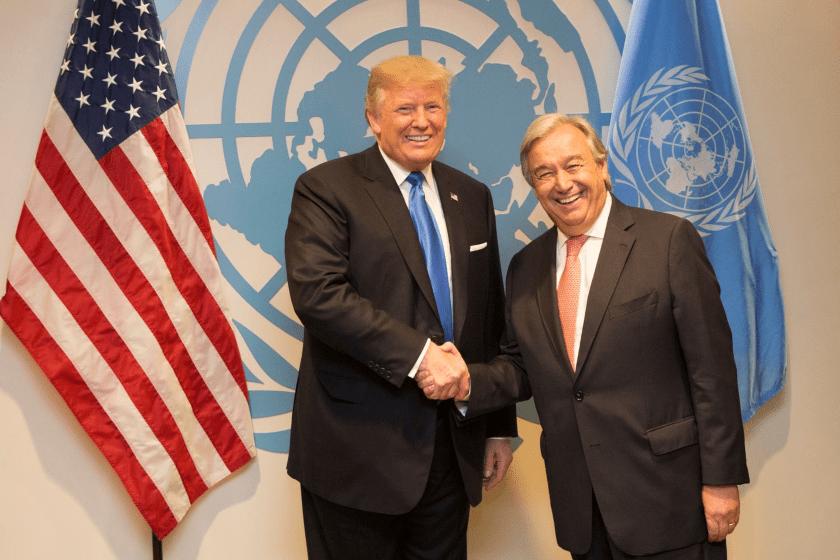 Donald Trump y Antonio Gutérres