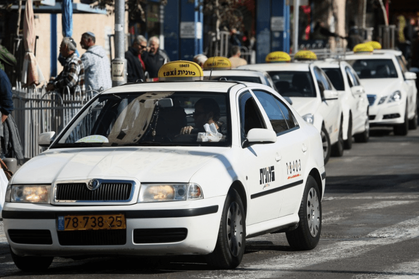 taxi, transporte, Israel