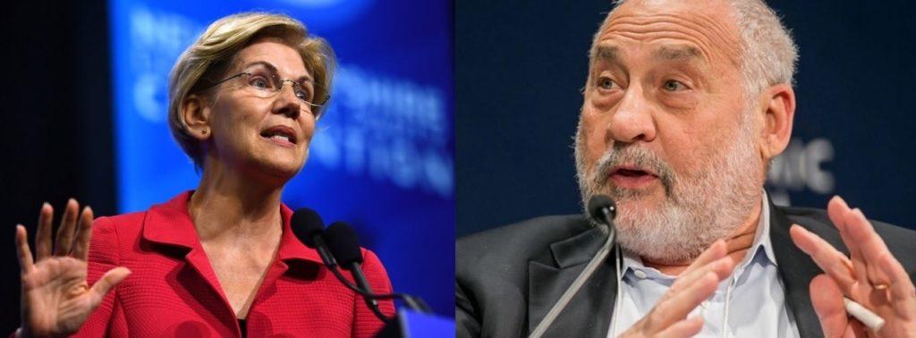 Elizabeth Warren y Joseph Stiglitz