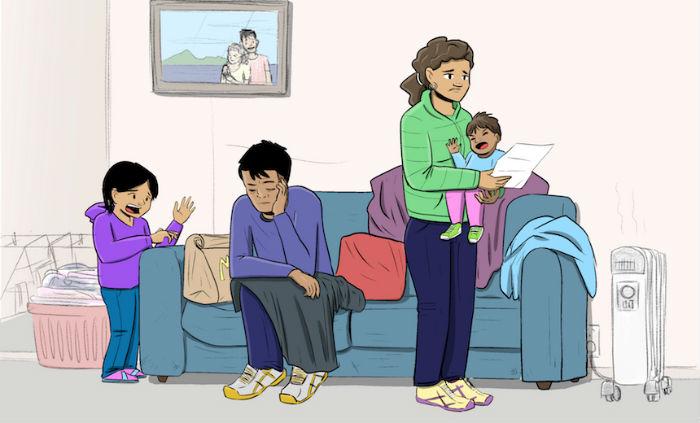 familia estresada