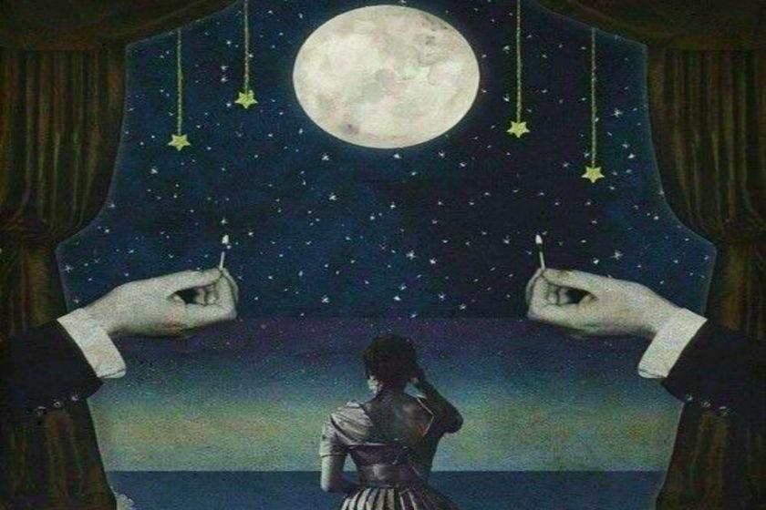ilustracion de la luna