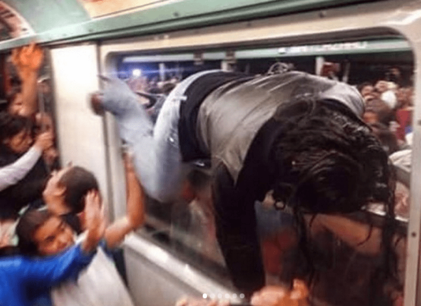 horas pico en el metro de la Ciudad de México