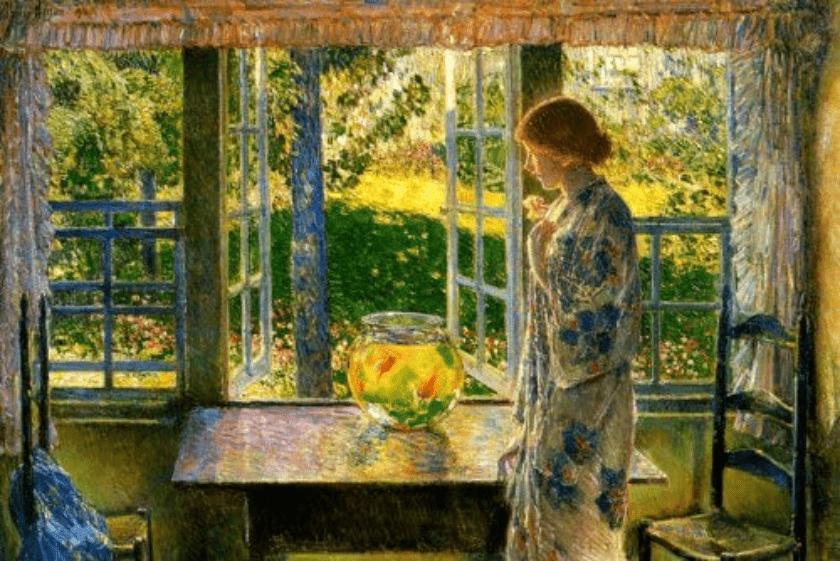 mujer y ventana