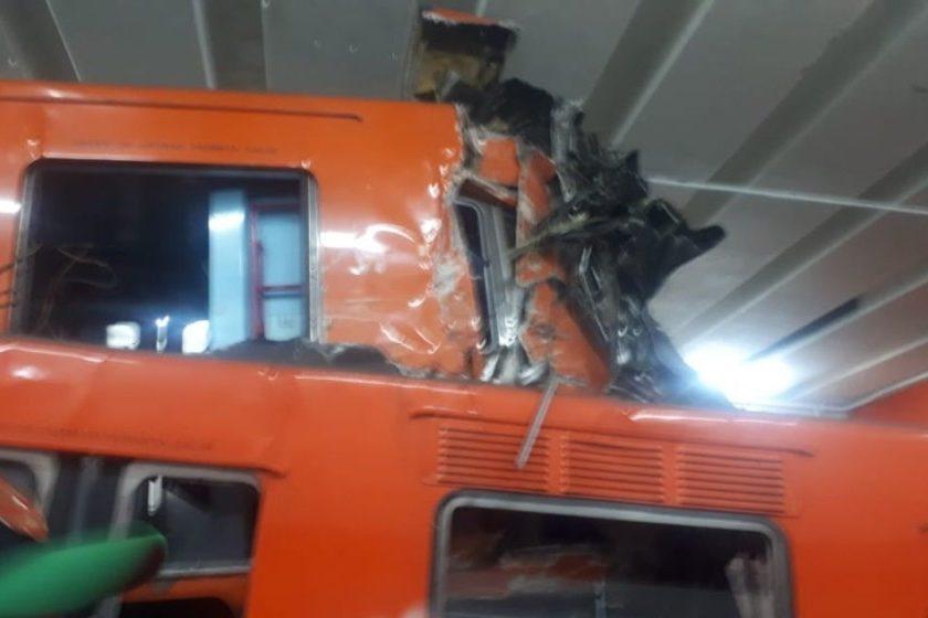 Qué causó el accidente en el metro