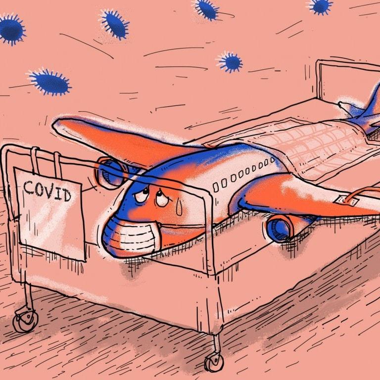 pandemia en aviones