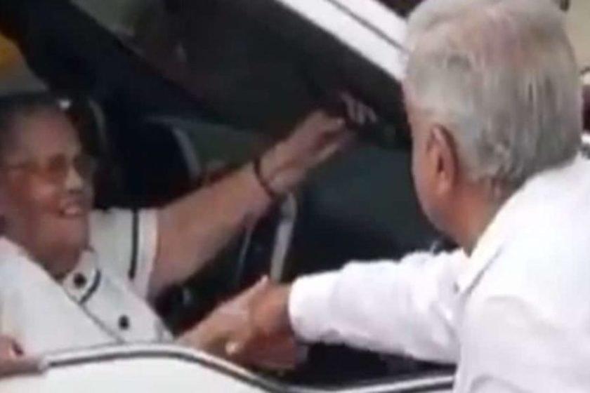 encuentro de López Obrador y la mamá de El Chapo