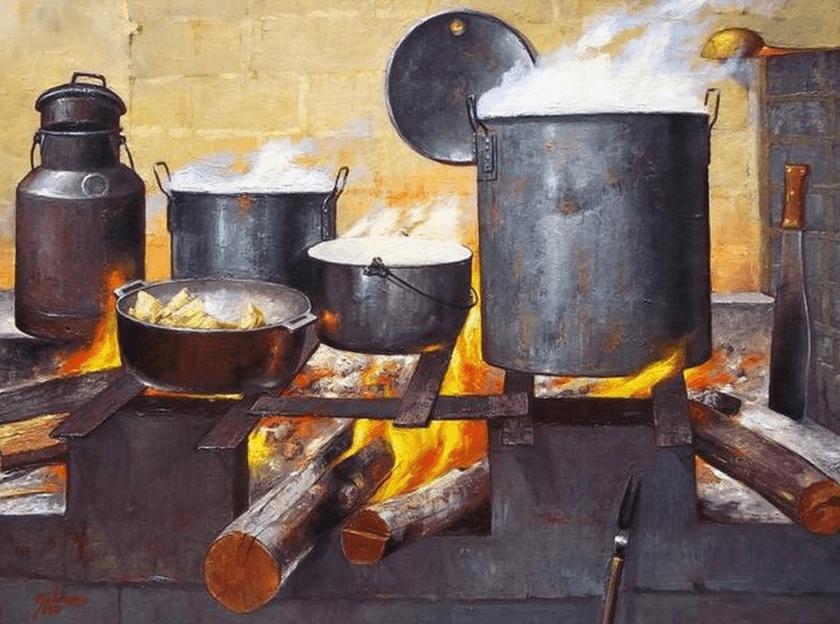 cocina y cocinando