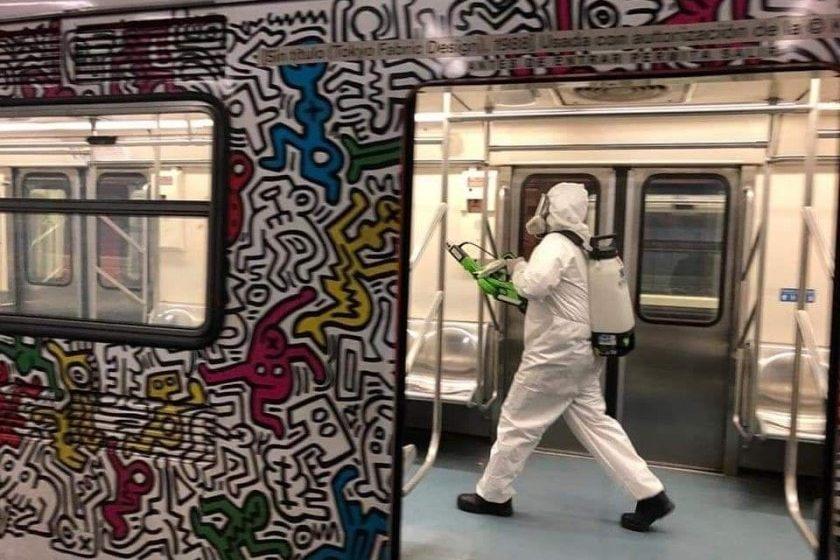 desinfección en el metro de la CDMX