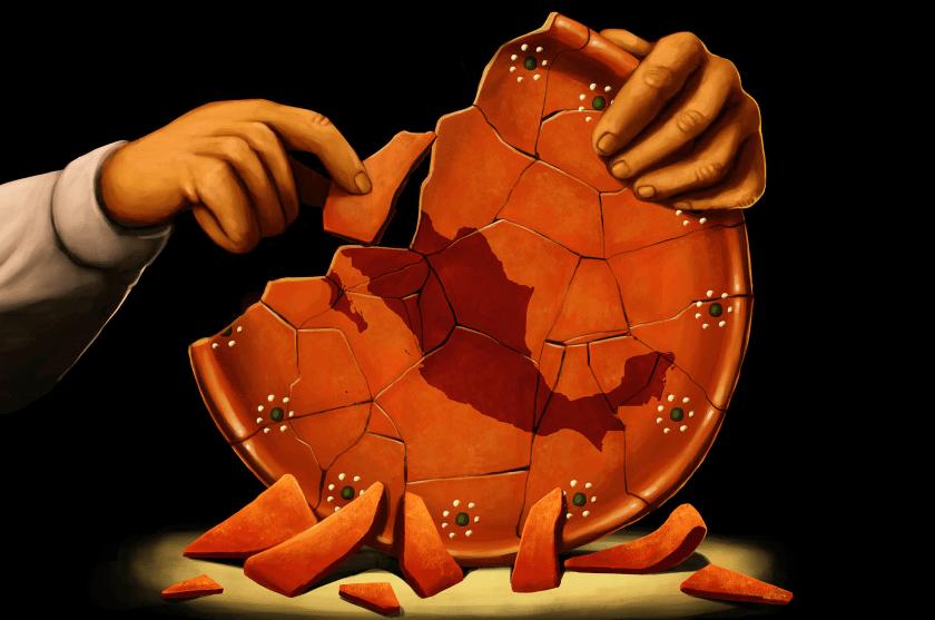 figuras rotas mapa de Mexico