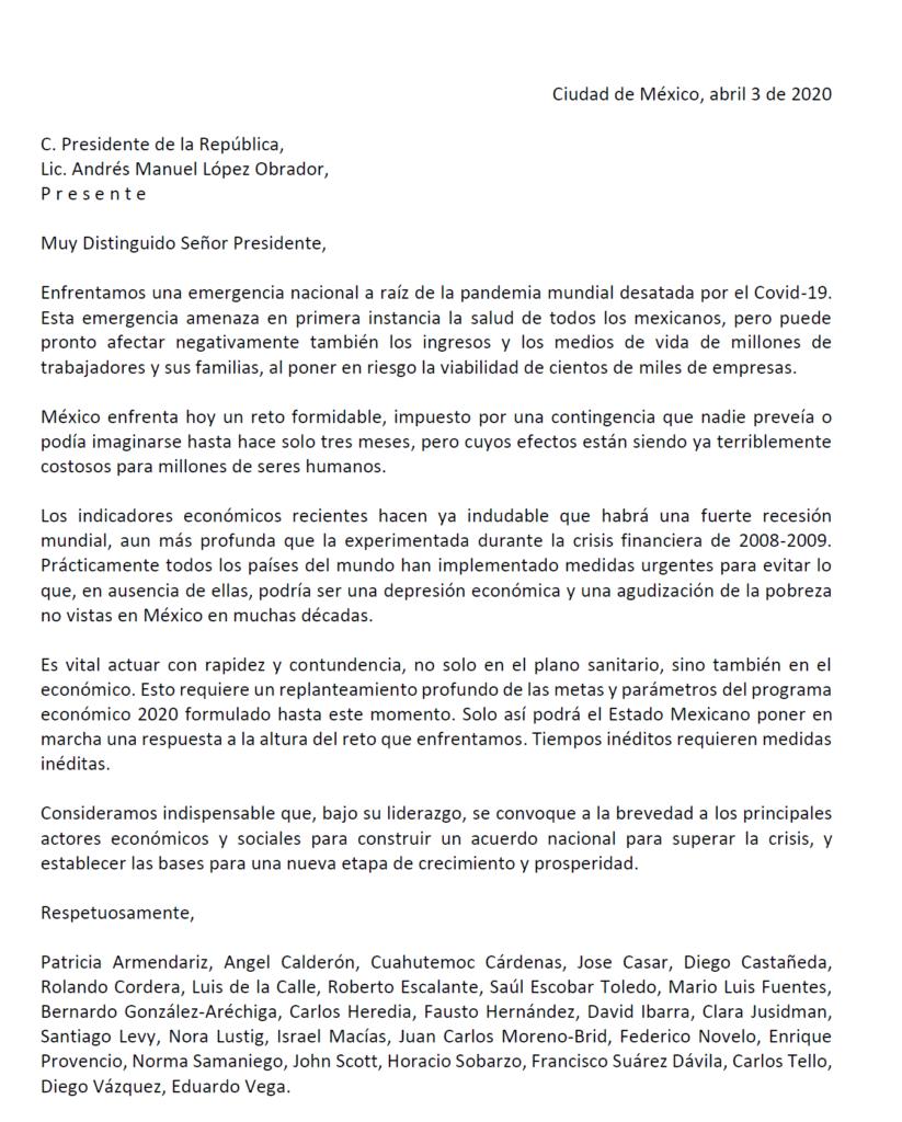 Académicos piden a AMLO acuerdo nacional contra crisis económica por COVID-19