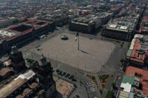Cierran calles del zócalo capitalino por coronavirus