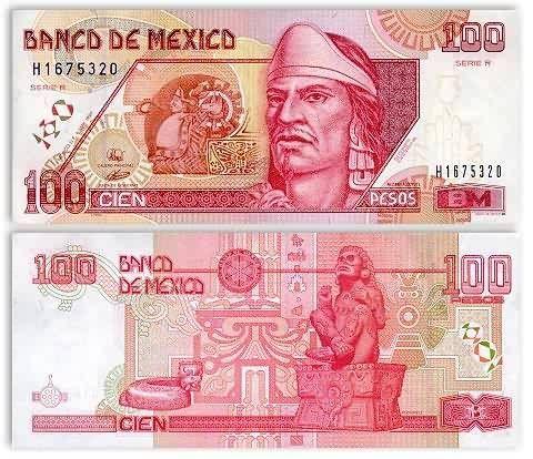 Billete 100 pesos Nezahualcoyotl