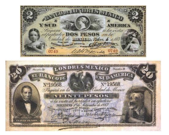billetes emitidos banco de Londres