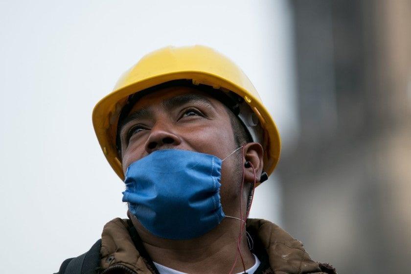 Medidas sanitarias para reanudar industria de la construcción