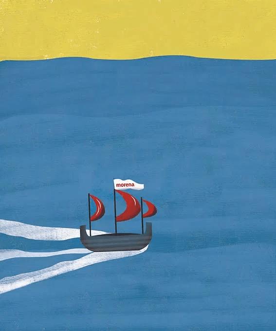 Morena navegando