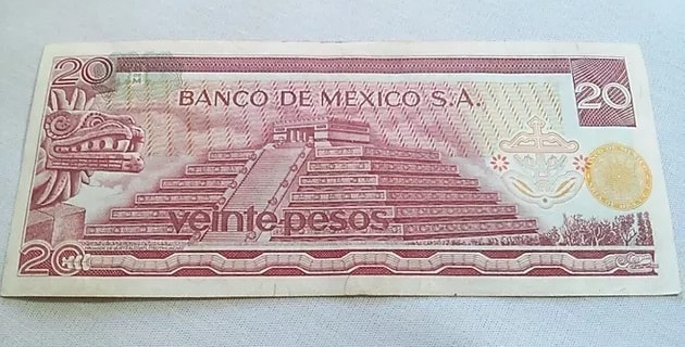 Primer billete de 20 pesos Reyes Santana