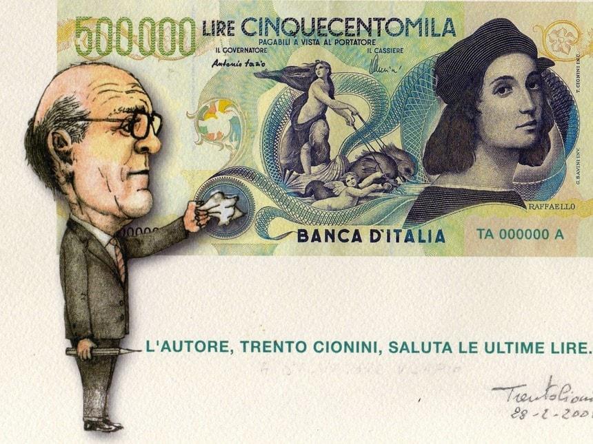 Trento Cionini, billetes