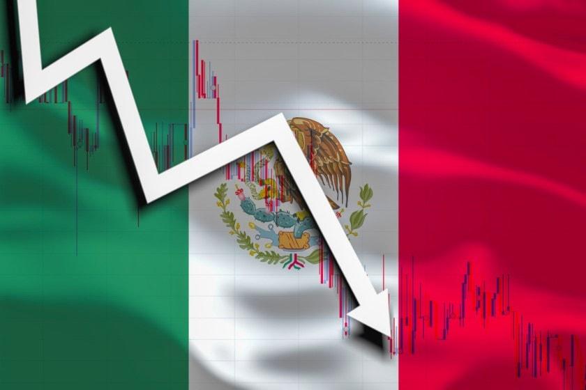 Contracción de la economía mexicana