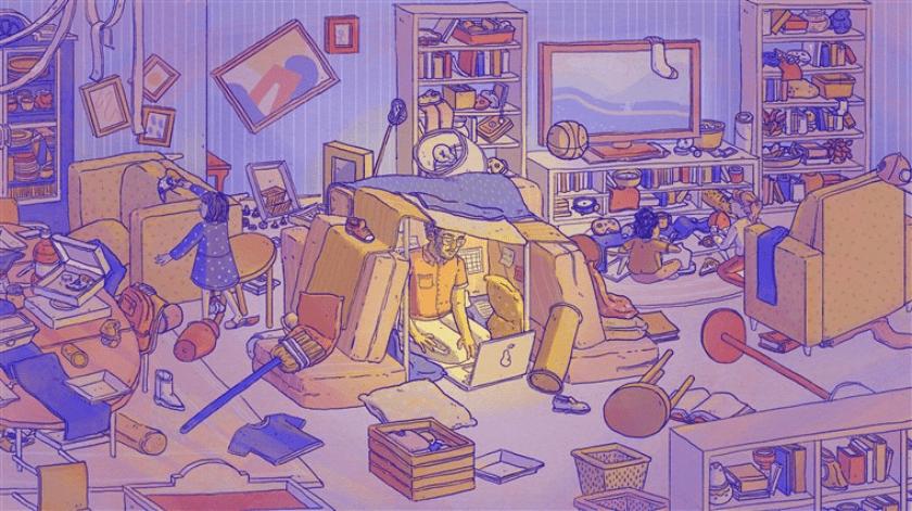 caos casa coronavirus